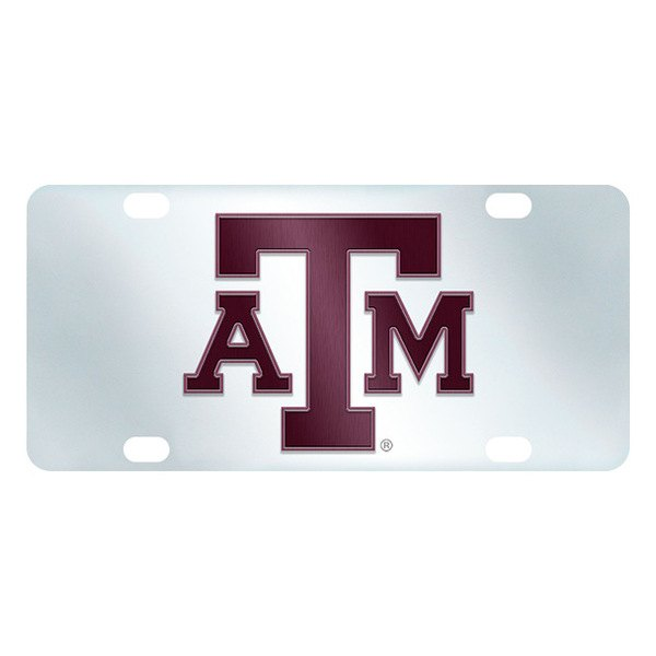FanMats® - Texas A&M University Logo on License Plate Inlaid