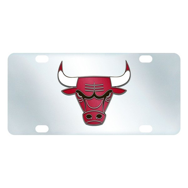 FanMats® - Inlaid License Plate (Sports, NBA, Chicago Bulls)