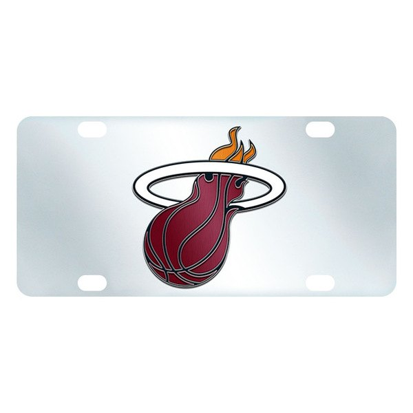 FanMats® - Inlaid License Plate (Sports, NBA, Miami Heat)
