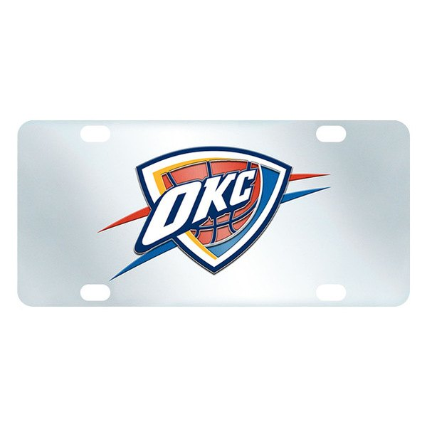 FanMats® - Inlaid License Plate (Sports, NBA, Oklahoma City Thunder)