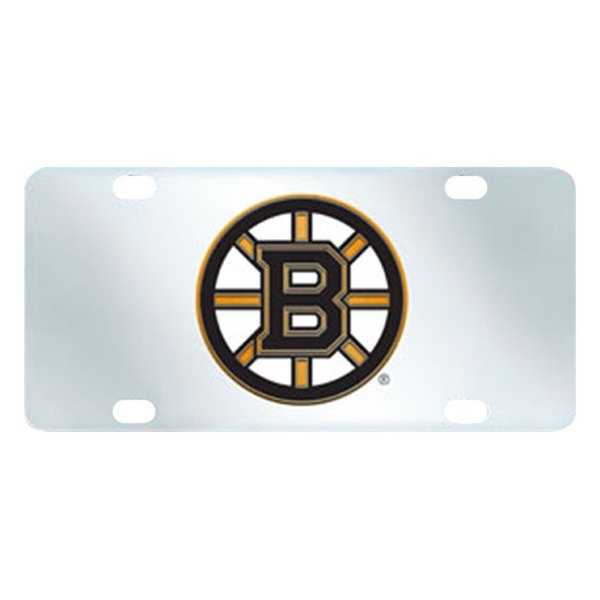 FanMats® - Inlaid License Plate (Sports, NHL, Boston Bruins)