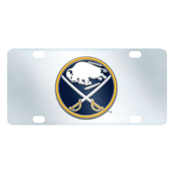 FanMats® - Buffalo Sabres Logo on License Plate Inlaid