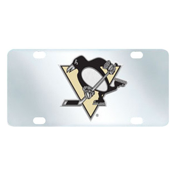 FanMats® - Inlaid License Plate (Sports, NHL, Pittsburgh Penguins)