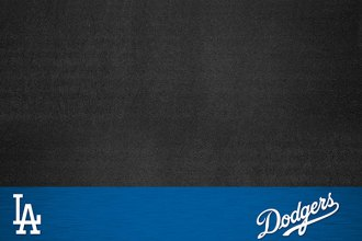 FanMats® - Los Angeles Dodgers Logo on Vinyl Gril Mat
