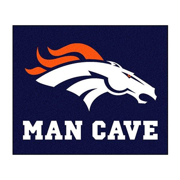 Man Cave Logo : Fanmats� denver broncos logo on man cave tailgater