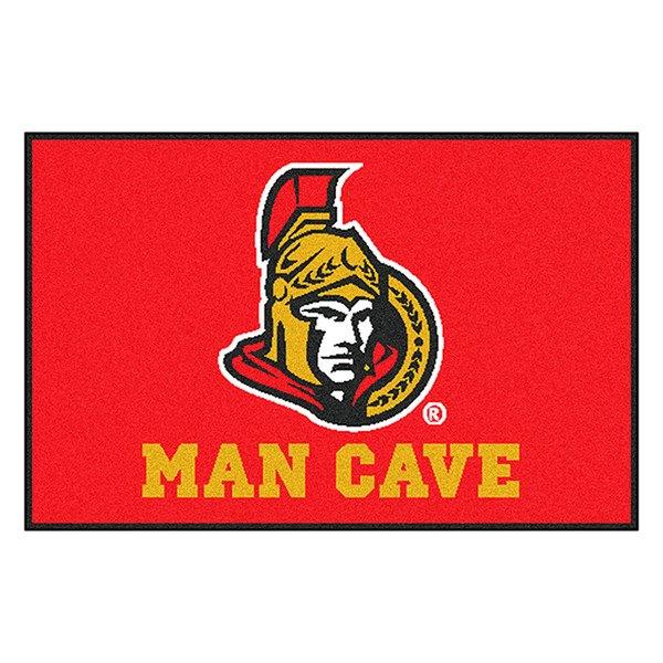 Man Cave Ottawa : Fanmats ottawa senators logo on man cave starter