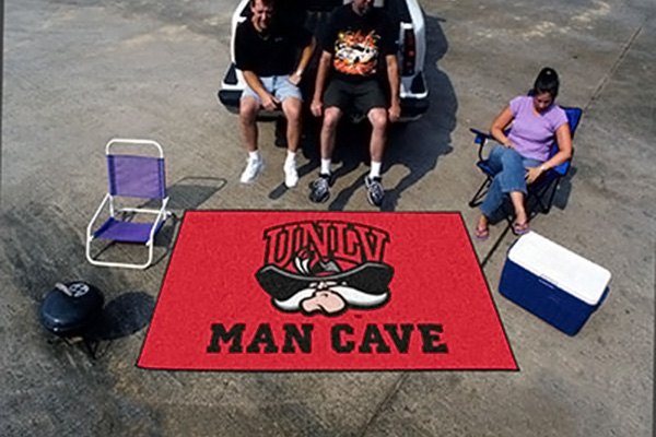 Man Cave Vegas : Fanmats university of nevada las vegas logo on