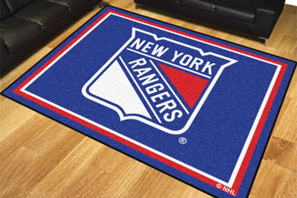 Fanmats 17521 new york rangers on 8x10 area rug for Area rugs new york