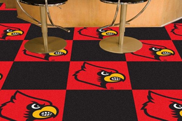 Fanmats 8538 university of louisville logo on carpet tiles fanmats university of louisville logo on carpet tiles ppazfo