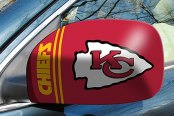 FanMats® - Universal Mirror Covers (Sports, NFL, Kansas City Chiefs)