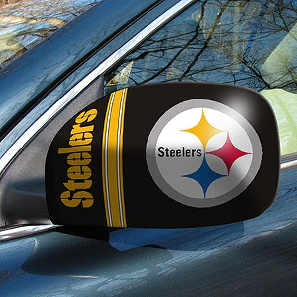 FanMats® - Universal Mirror Covers (Sports, NFL, Pittsburgh Steelers)