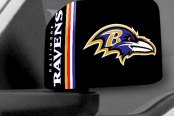 FanMats® - Universal Mirror Covers (Sports, NFL, Baltimore Ravens)