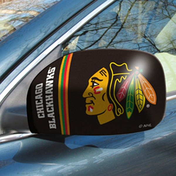 FanMats® - Universal Mirror Covers (Sports, NHL, Chicago Blackhawks)