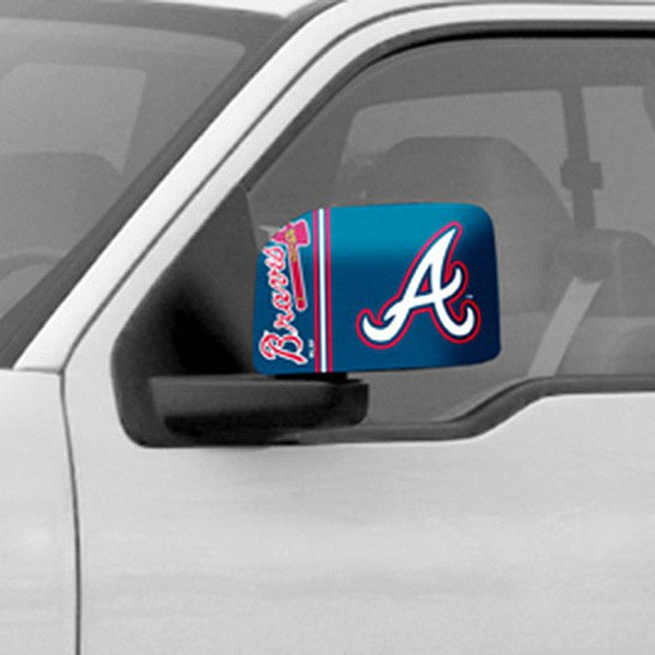 FanMats® - Universal Mirror Covers (Sports, MLB, Atlanta Braves)