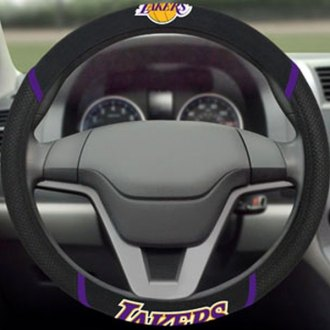 FanMats® - Los Angeles Lakers Logo on Steering Wheel Cover