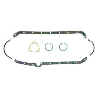 Fel-Pro® - Blue Stripe Rubber-Cork Oil Pan Gasket Set