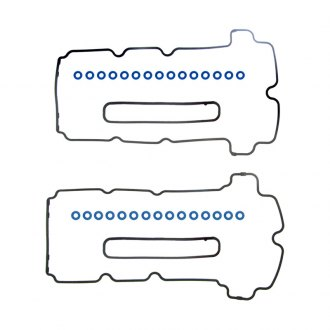 Fel-Pro® - Molded Rubber Valve Cover Gasket with Grommets and Spark Plug Tube Seals
