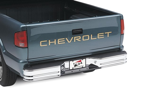 Image may not reflect your exact vehicle! FEY® - Universal Series Surestep Chrome Rear Bumper - Installed