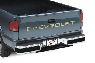 Image may not reflect your exact vehicle! FEY® - Universal Series Surestep Black Rear Bumper - Installed