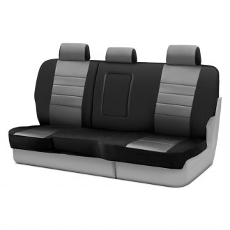 Fia® - Neo™ 2nd Row Black & Gray Seat Covers