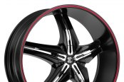 FIERO® - No.15 Satin Black with Red Stripe and Chrome Inserts A Style