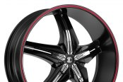 FIERO® - No.15 Satin Black with Red Stripe and Chrome Inserts B Style