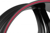 FIERO® - No.15 Satin Black with Red Stripe Close-Up