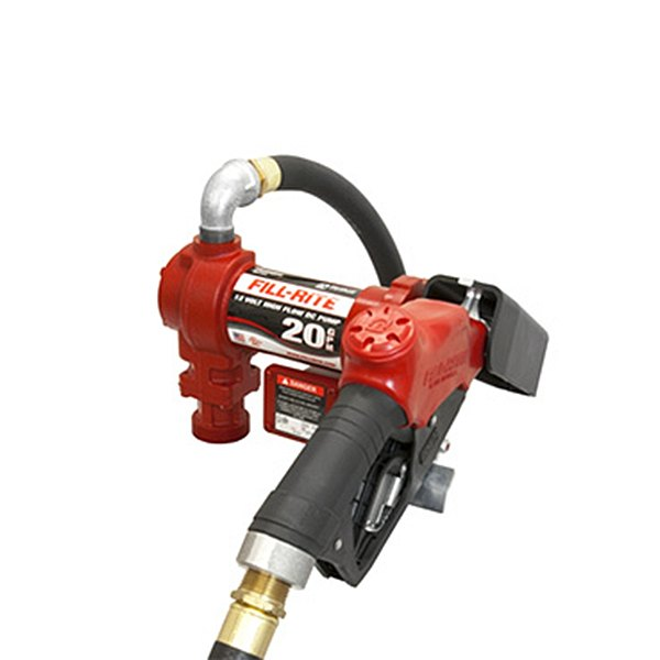 Fill rite fr gb v dc hi flow pump with hose