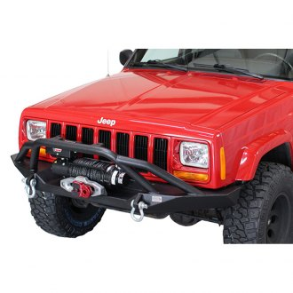 Fishbone Offroad® - Front Winch Bumper with Grille Guard