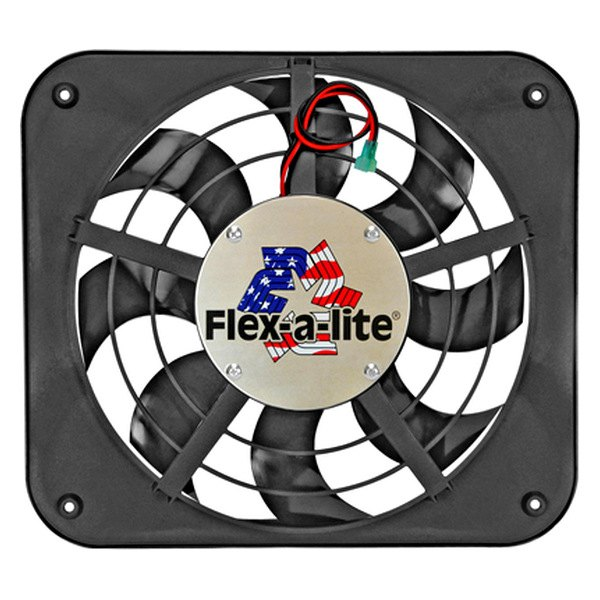 "Flex-a-Lite® - 12-1/8"" Lo-Profile S-Blade Electric Fan with Control, Puller"
