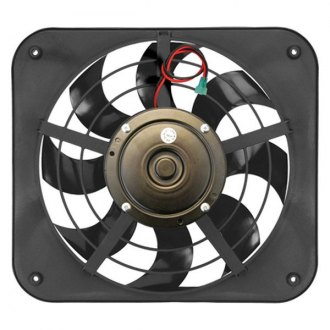 Flex-a-Lite® - 12-1/8 Lo-Profile S-Blade Electric Fan with Control, Pusher