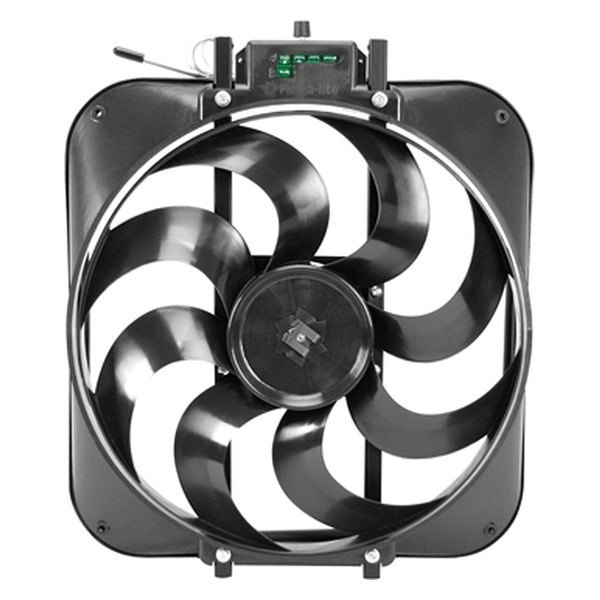 "Flex-a-lite® - 15"" Black Magic S-Blade Reversible Electric Fan with Control"
