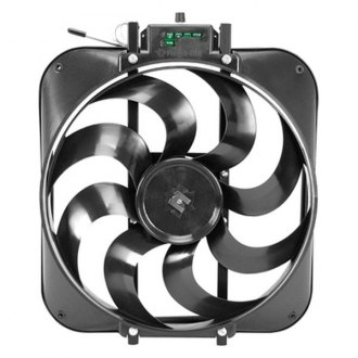 Flex-a-Lite® - 15 Black Magic S-Blade Reversible Electric Fan with Control