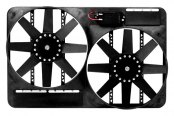 "Flex-a-Lite® - 13-1/2"" Dual Electric Fan with Control"