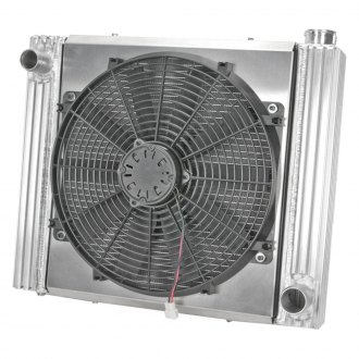 Flex-a-Lite® - 17 Crossflow Radiator / Fan Combo with Driver Side Inlet