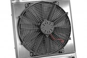 "Flex-a-lite® - 17"" Downflow Radiator / Fan Combo with Driver Side Inlet"