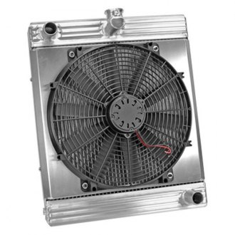 Flex-a-Lite® - 17 Downflow Radiator / Fan Combo with Driver Side Inlet