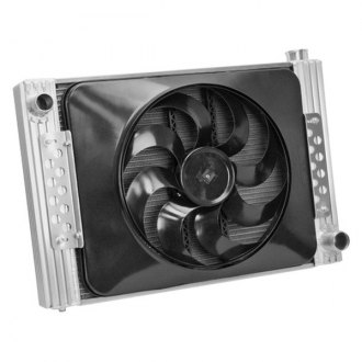 Flex-a-Lite® - 22 Crossflow Radiator / Fan Combo with Driver Side Inlet