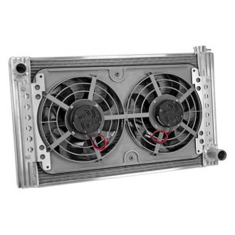 Flex-a-Lite® - 26 Crossflow Radiator / Fan Combo with Driver Side Inlet