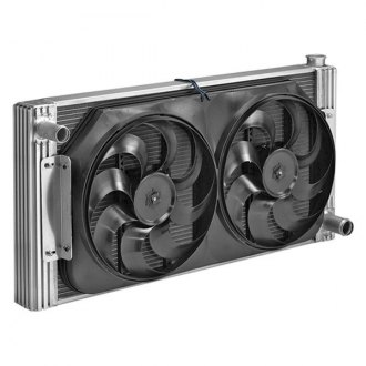 Flex-a-Lite® - 31-1/2 Crossflow Radiator / Fan Combo with Driver Side Inlet