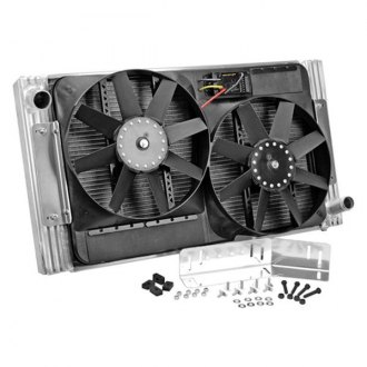 Flex-a-Lite® - 28 Crossflow Radiator / Fan Combo with Driver Side Inlet