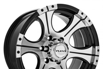"FLEXX OFFROAD® - FX72 Black with Machined Face (16"" x 8"", 0 Offset, 6x139.7 Bolt Pattern, 108mm Hub)"