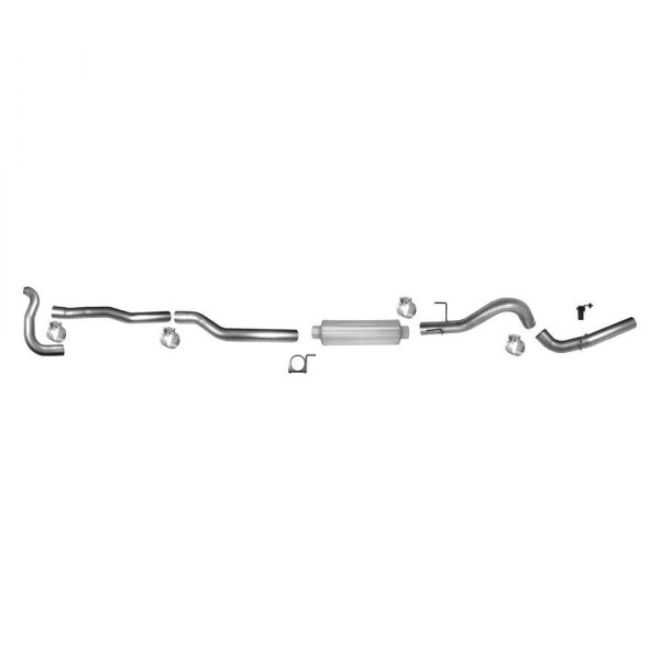 Flo-Pro® - Stainless Steel Single Header-Back Exhaust System