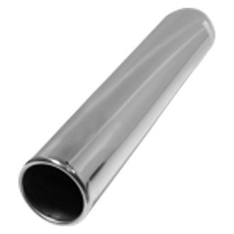 Flo-Pro® - 304 SS Pencil Style Round Rolled Edge Straight Cut Weld-On Polished Exhaust Tip
