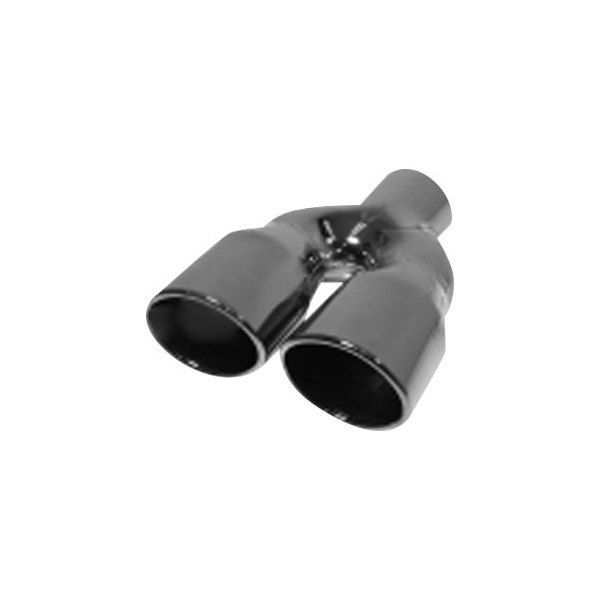 Flopro® 304 Ss Oval Angle Cut Dual Black Chrome Exhaust Tip: Dual Black Exhaust Tips At Woreks.co