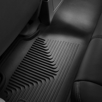 Image may not reflect your exact vehicle! Husky Liners® - X-Act Contour™ Floor Liners - 2nd Row, Black
