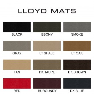Image may not reflect your exact vehicle! LLOYD� - Velourtex� Floor Mats Colors