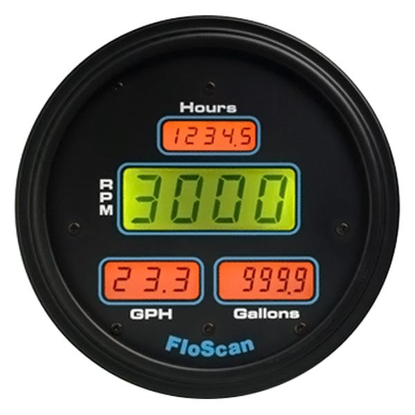 Floscan® - 7600 Series In-Dash Mount Multifunction Gauge for Yanmar 6LY2-STE, Yanmar 6CX-ETE, Volvo 72/73/74