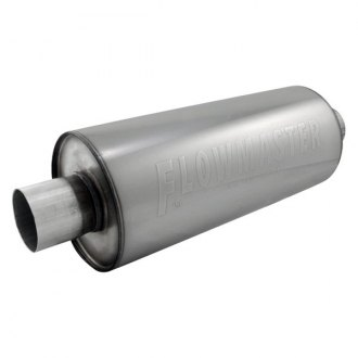 "Flowmaster® - dBX Series™ Stainless Steel Round Laminar Flow Exhaust Muffler (2.5"" Center ID, 2.5"" Center OD, 14"" Length)"