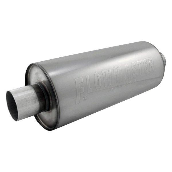 "Exhaust Muffler Race Stainless Steel Round Gray Exhaust Muffler 3/"" Center ID 3/"""